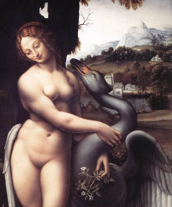 Leda 1508 15 detail1 | Leonardo Da Vinci | Oil Painting