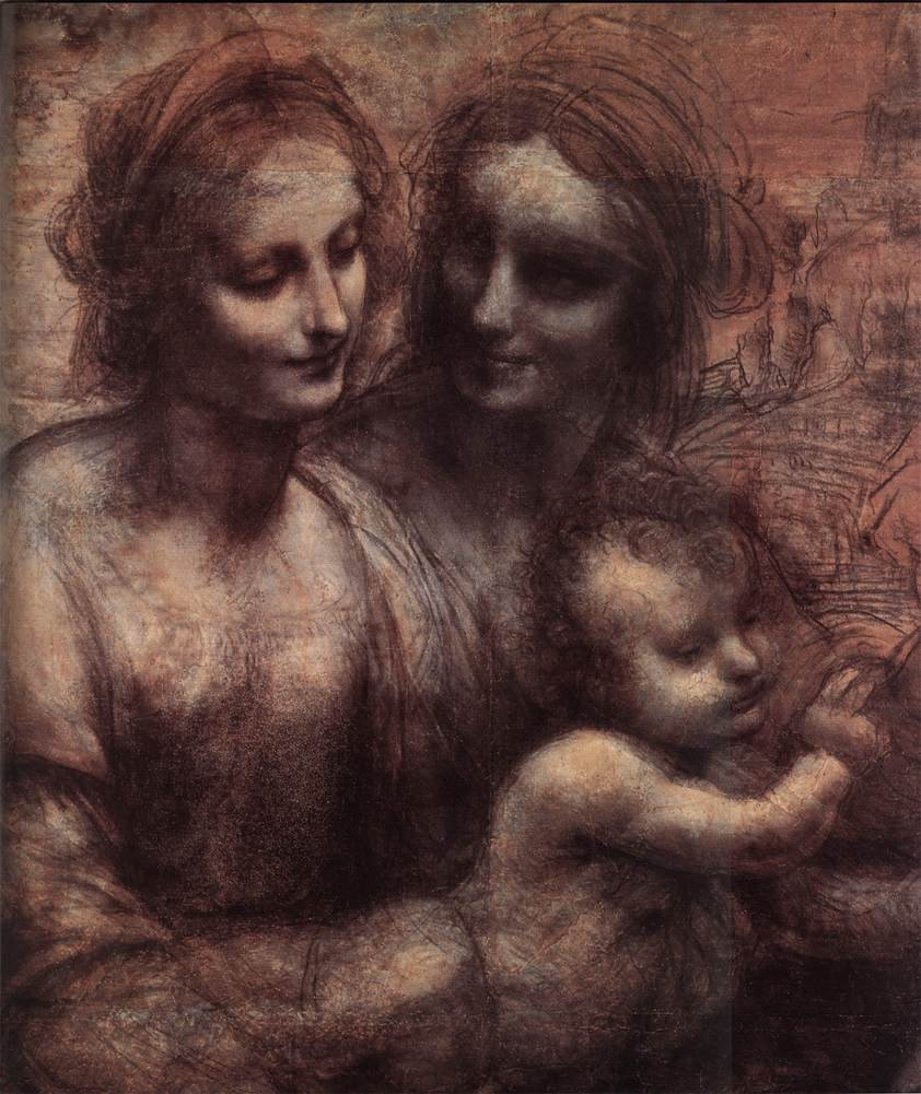 Madonna and Child with St Anne and the You | Leonardo Da Vinci | Oil Painting