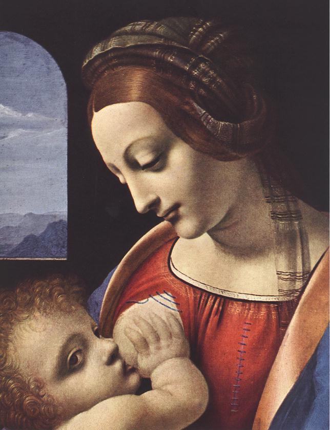 Madonna Litta detail 1 | Leonardo Da Vinci | Oil Painting