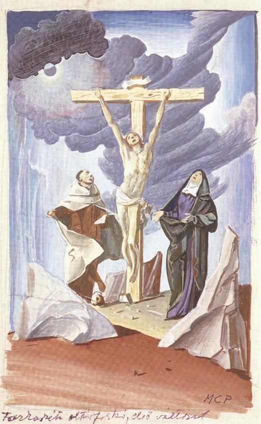 Golgotha (sketch) 1936 | Pai C Molnar | Oil Painting