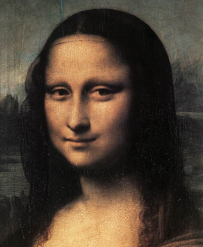 Mona Lisa detail 1 | Leonardo Da Vinci | Oil Painting