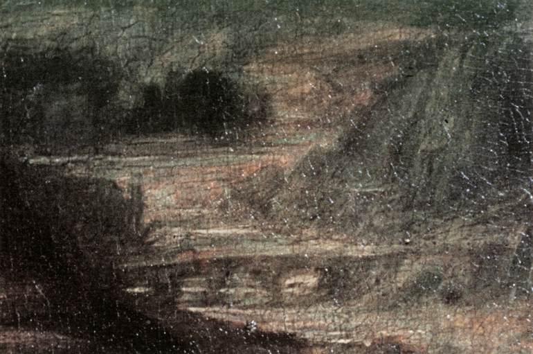 Mona Lisa detail 3 | Leonardo Da Vinci | Oil Painting
