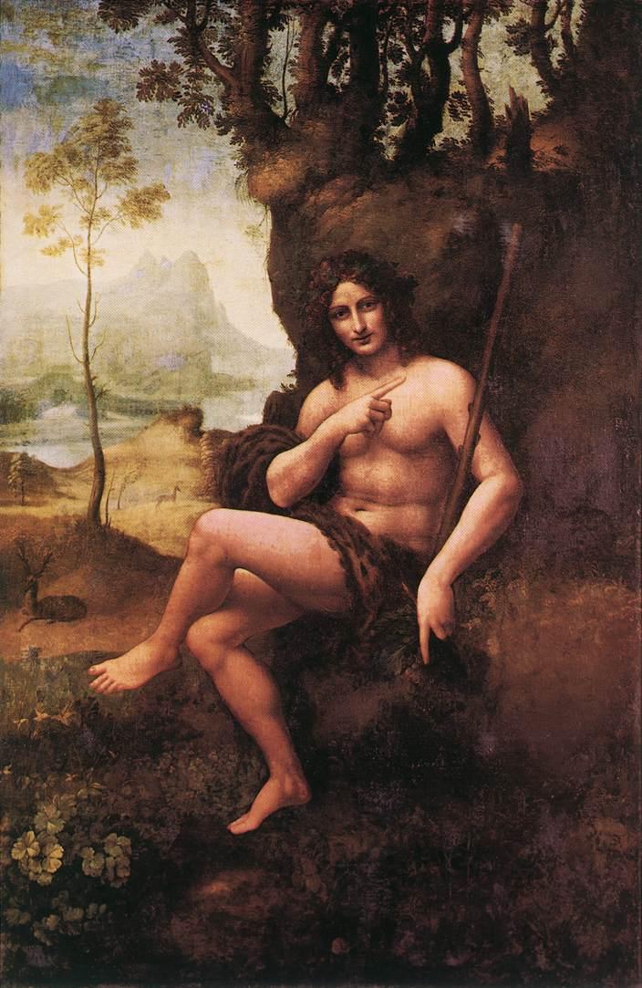St John in the Wilderness (Bacchus) | Leonardo Da Vinci | Oil Painting
