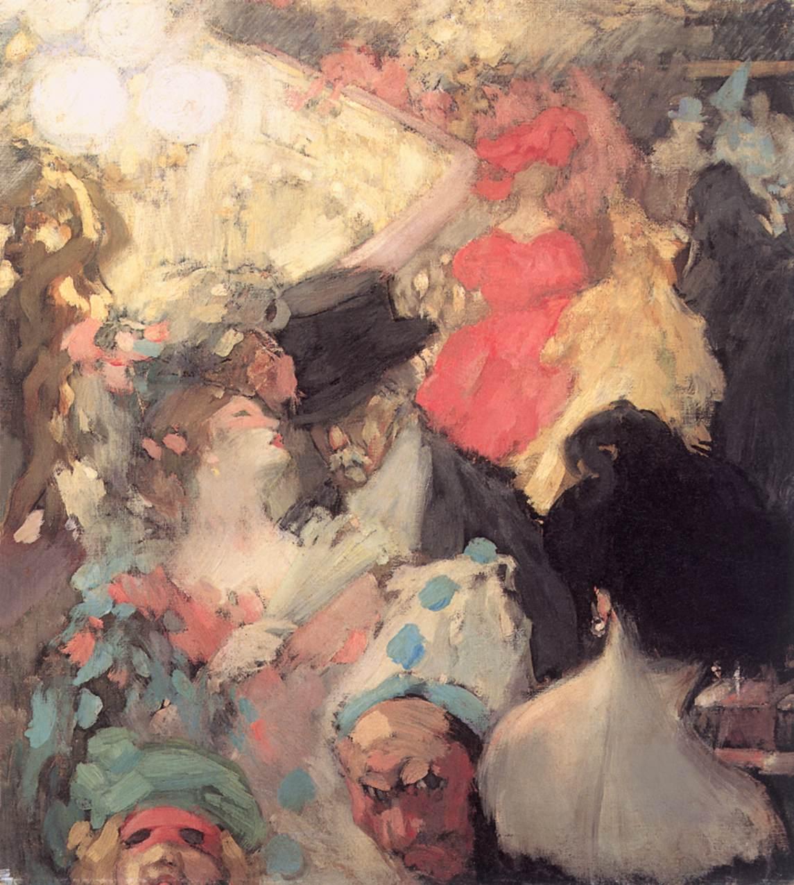 Fancy dress Ball 1907 | Janos Vaszary | Oil Painting