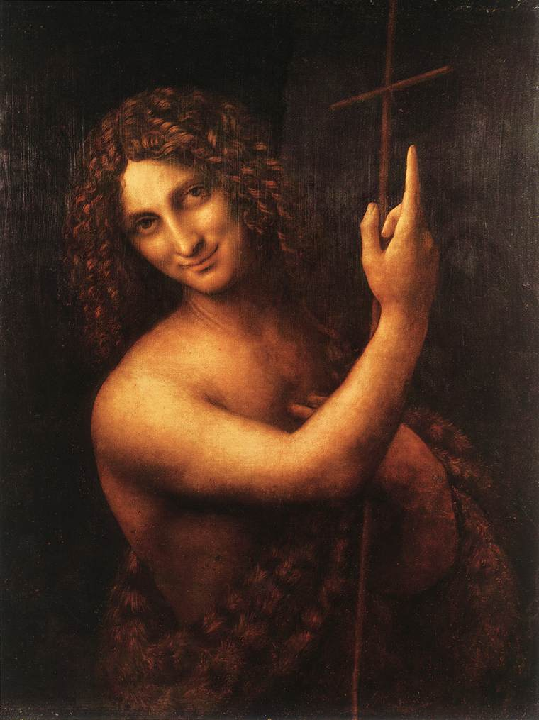 St John the Baptist | Leonardo Da Vinci | Oil Painting