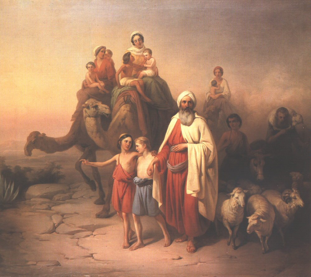 Abraham's Journey from Ur to Canaan 1850 | Jozsef Molnar | Oil Painting