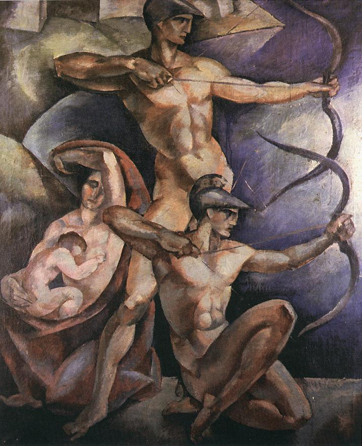 Archers 1920 | Farkas Molnar | Oil Painting