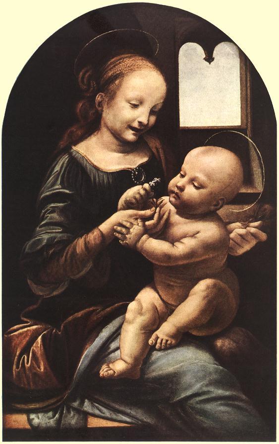 Madonna with flower | Leonardo Da Vinci | Oil Painting