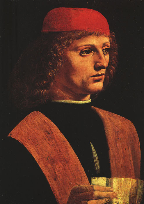Portrait of a musician | Leonardo Da Vinci | Oil Painting