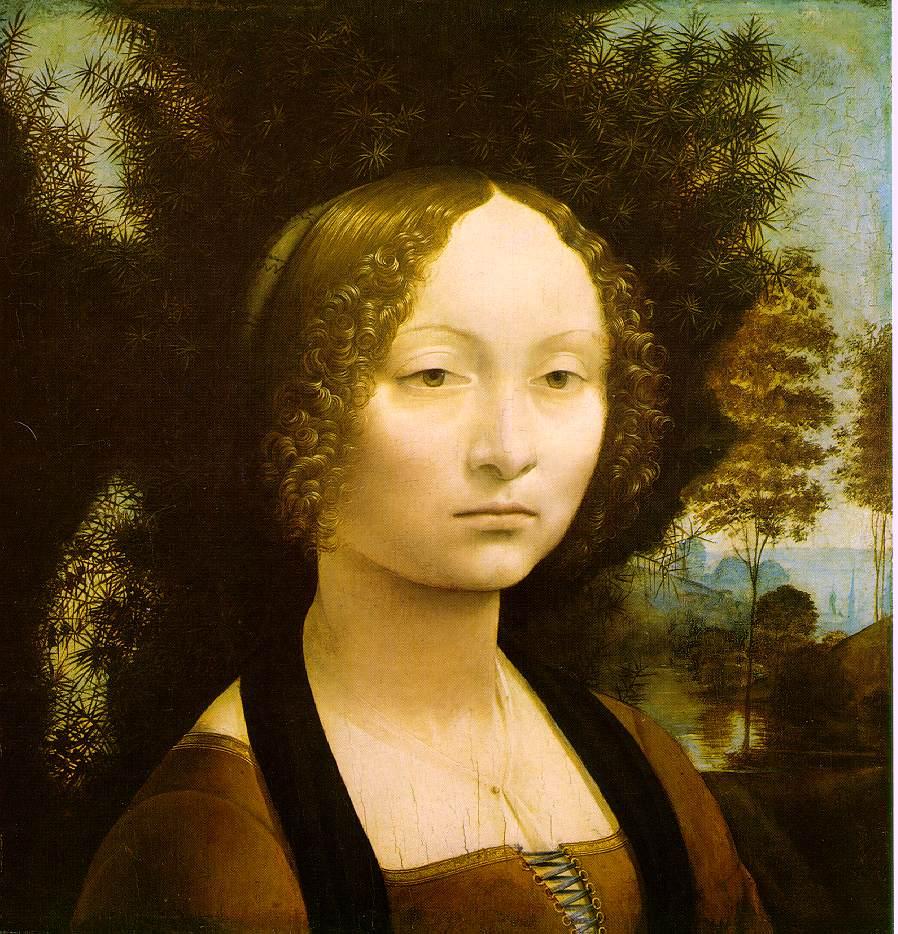 Portrait of Ginevra Benci | Leonardo Da Vinci | Oil Painting
