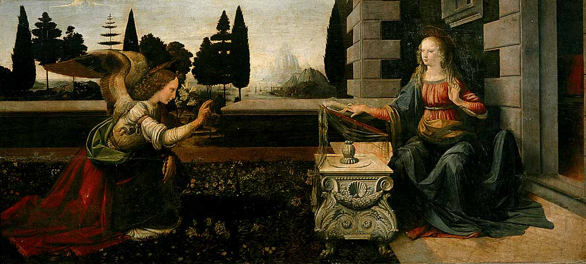 The Annunciation | Leonardo Da Vinci | Oil Painting