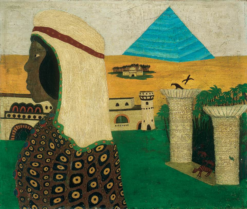 Reminiscence of Egypt   Dezso Meszaros Mokry   Oil Painting