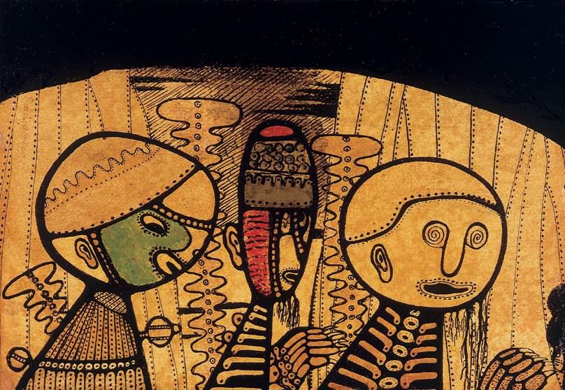 Strangers 1918   Dezso Meszaros Mokry   Oil Painting