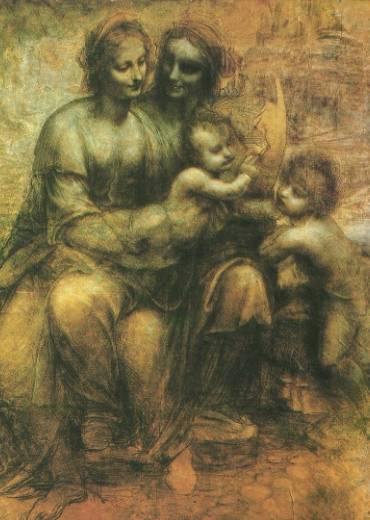 Virgin and Child with John the Baptist and St Anne | Leonardo Da Vinci | Oil Painting