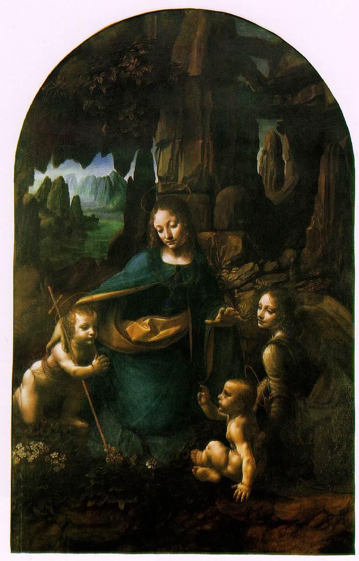 Virgin of the Rocks london | Leonardo Da Vinci | Oil Painting