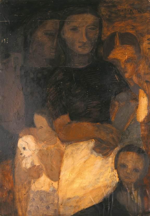 Family 1937 | Maria Modok | Oil Painting