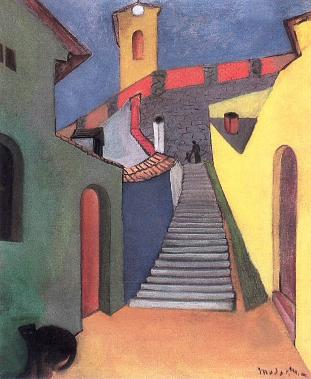 Stairs at Szentendre 1932 | Maria Modok | Oil Painting