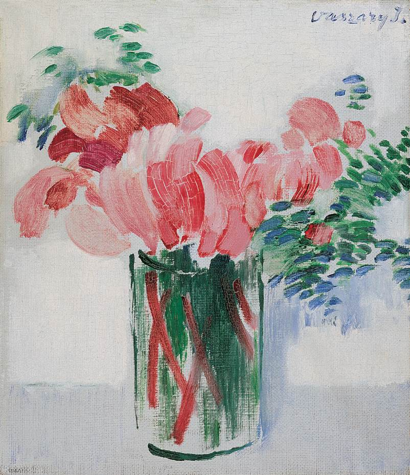 Cyclamens in a Glass 1930s | Janos Vaszary | Oil Painting