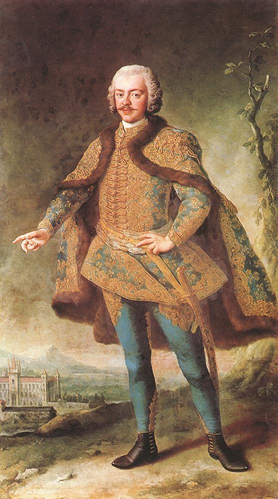 Portrait of Denes Banffy mid 18th century   Martin Van Meytens   Oil Painting