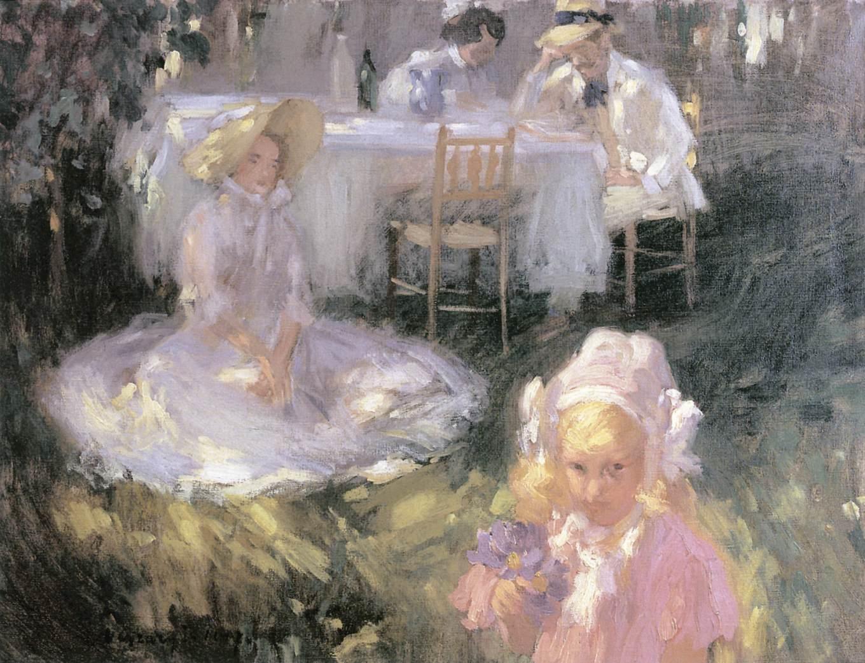 Breakfast in the Open Air 1907   Janos Vaszary   Oil Painting