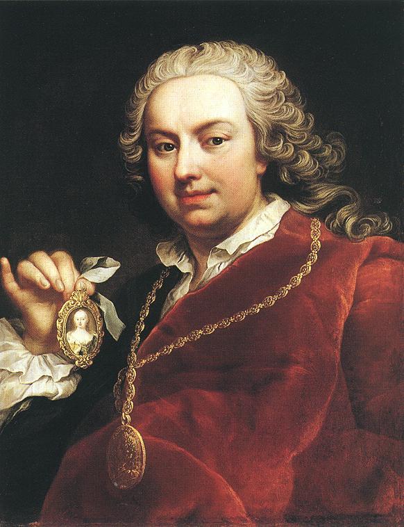 Self portrait 1740s   Martin Van Meytens   Oil Painting