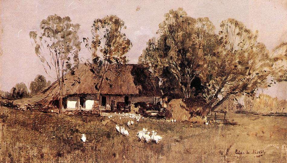 Farmhouse | Geza Meszoly | Oil Painting