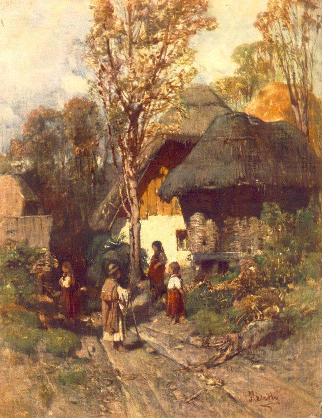 Bottom of the Village 1877 82 | Geza Meszoly | Oil Painting