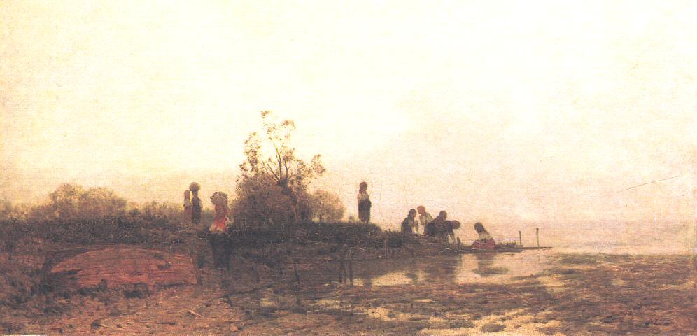 Autumn Sunshine on Lake Balaton 1875 | Geza Meszoly | Oil Painting