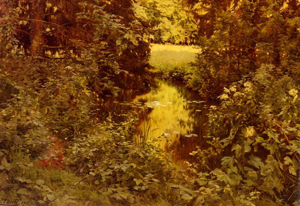 Clairiere Dans Une Foret | Leon Louis Antoine Tanzi | Oil Painting