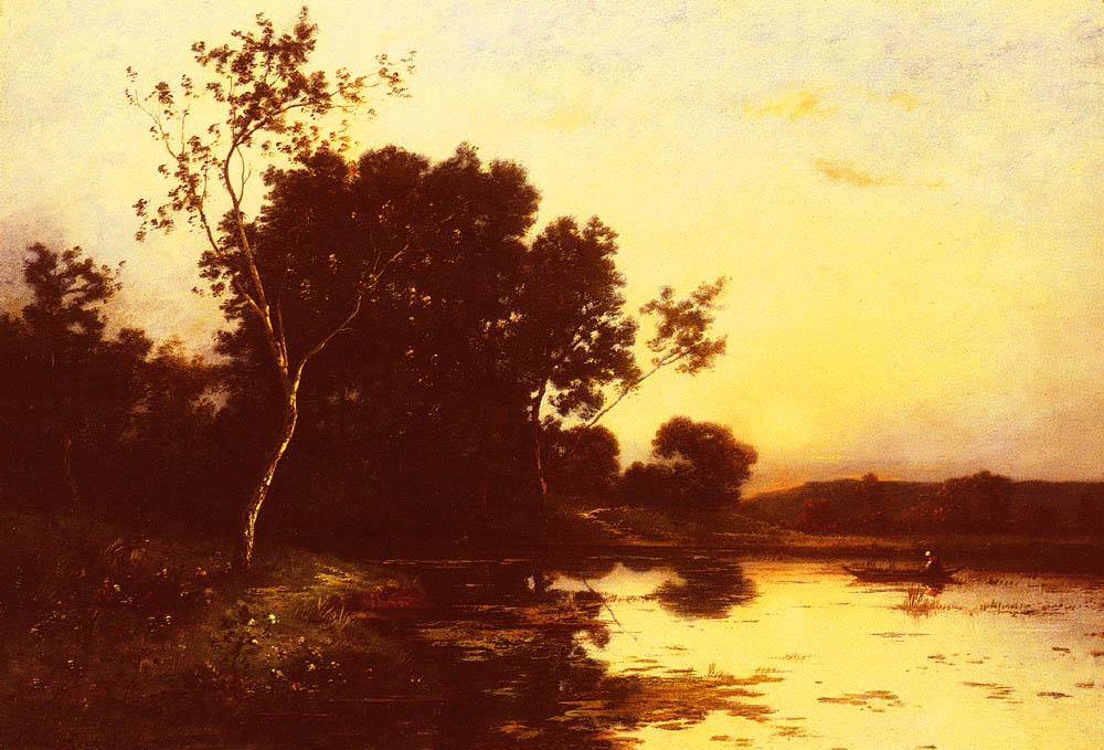 Le Lac Au Crepuscule | Leon Richet | Oil Painting