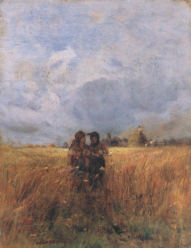 On the Wheatfield | Geza Meszoly | Oil Painting