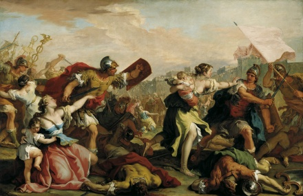 Battle of the Romans and the Sabines c 1700 | Sebastiano Ricci | Oil Painting