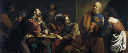 The Denial of St Peter | Theodoor Rombouts | Oil Painting