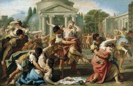 The Rape of the Sabine Women c 1700 | Sebastiano Ricci | Oil Painting
