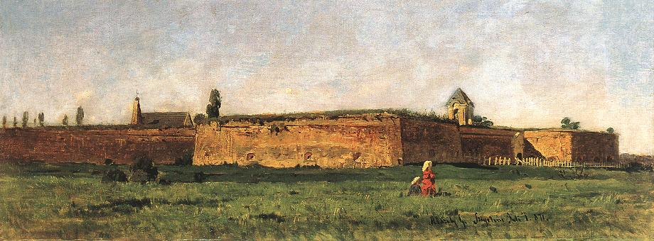 Fortress of Szigetvar 1871 | Geza Meszoly | Oil Painting