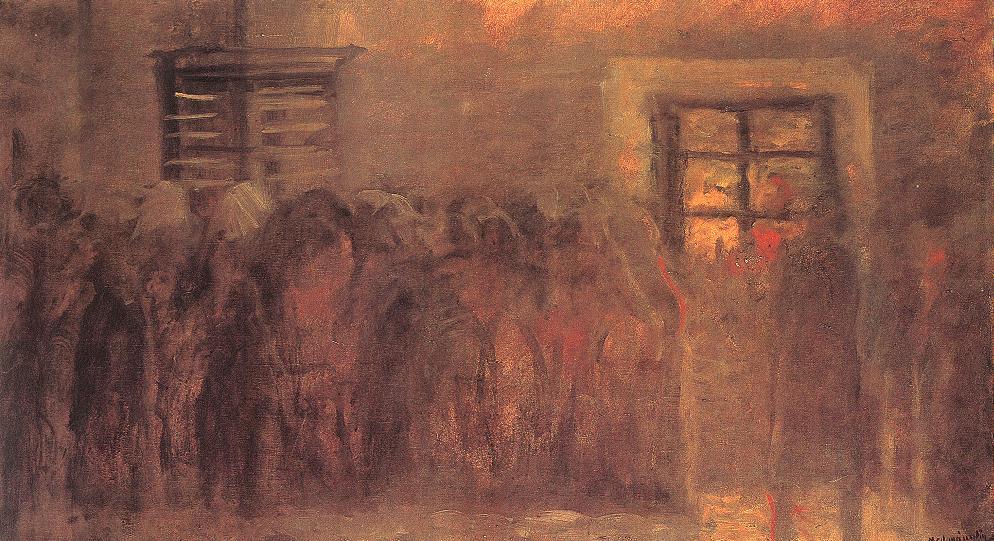 Queueing Up 1916 | Laszio Mednyanszky | Oil Painting