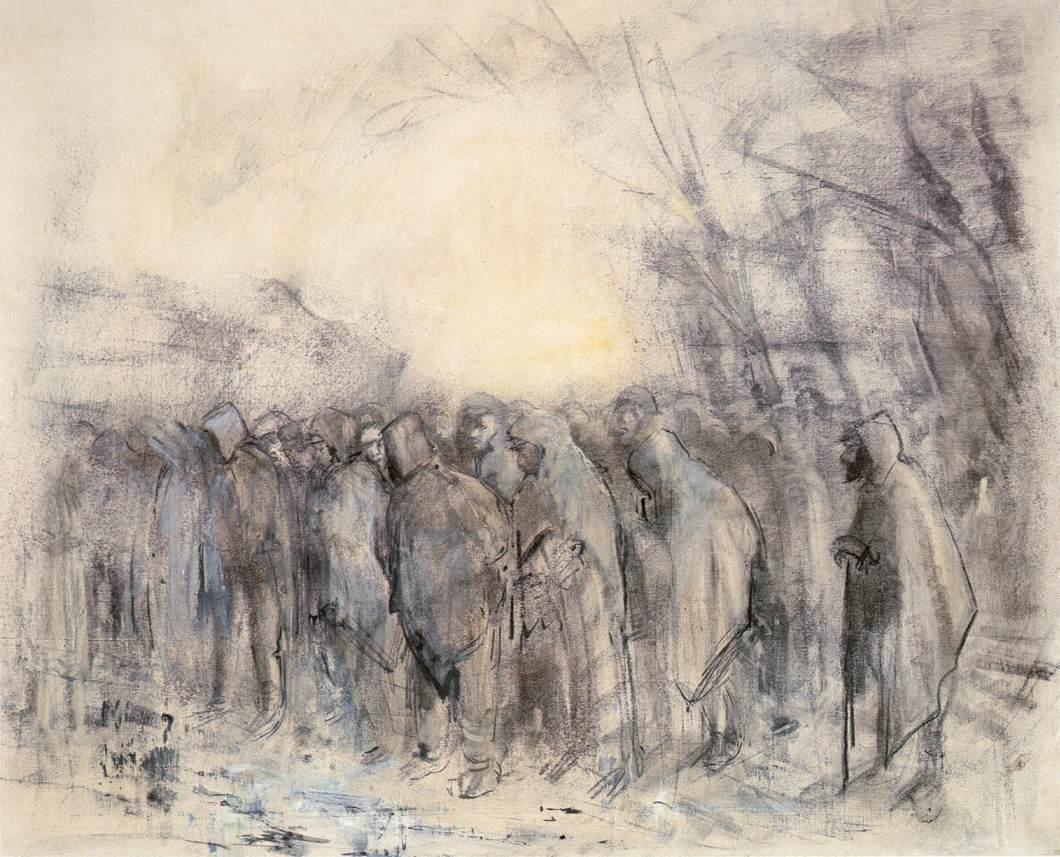 Prisoners Marching Off | Laszio Mednyanszky | Oil Painting