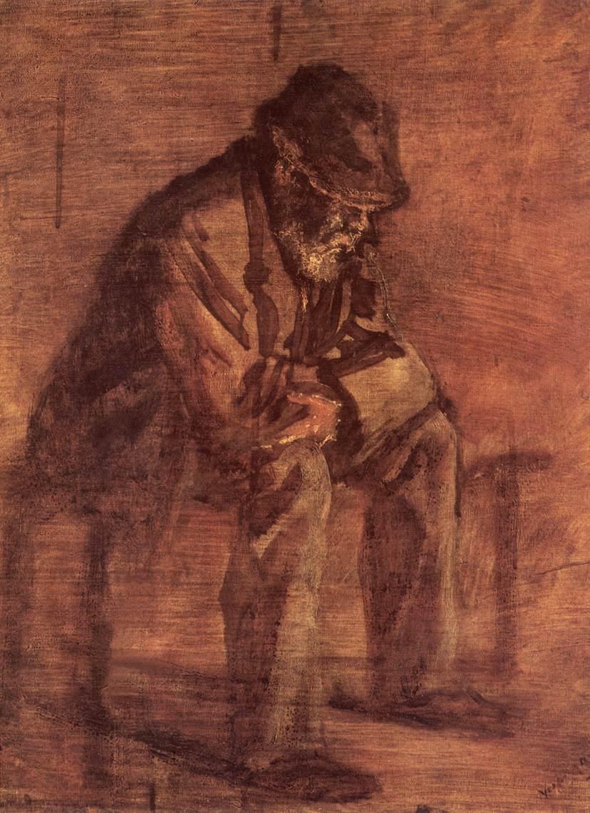 Pensiveness 1905 10 | Laszio Mednyanszky | Oil Painting