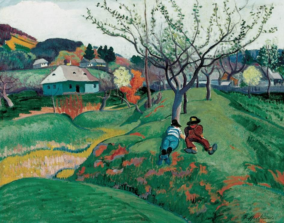 Rest in a Landscape at Nagybanya 1908-10 | Sandor Ziffer | Oil Painting