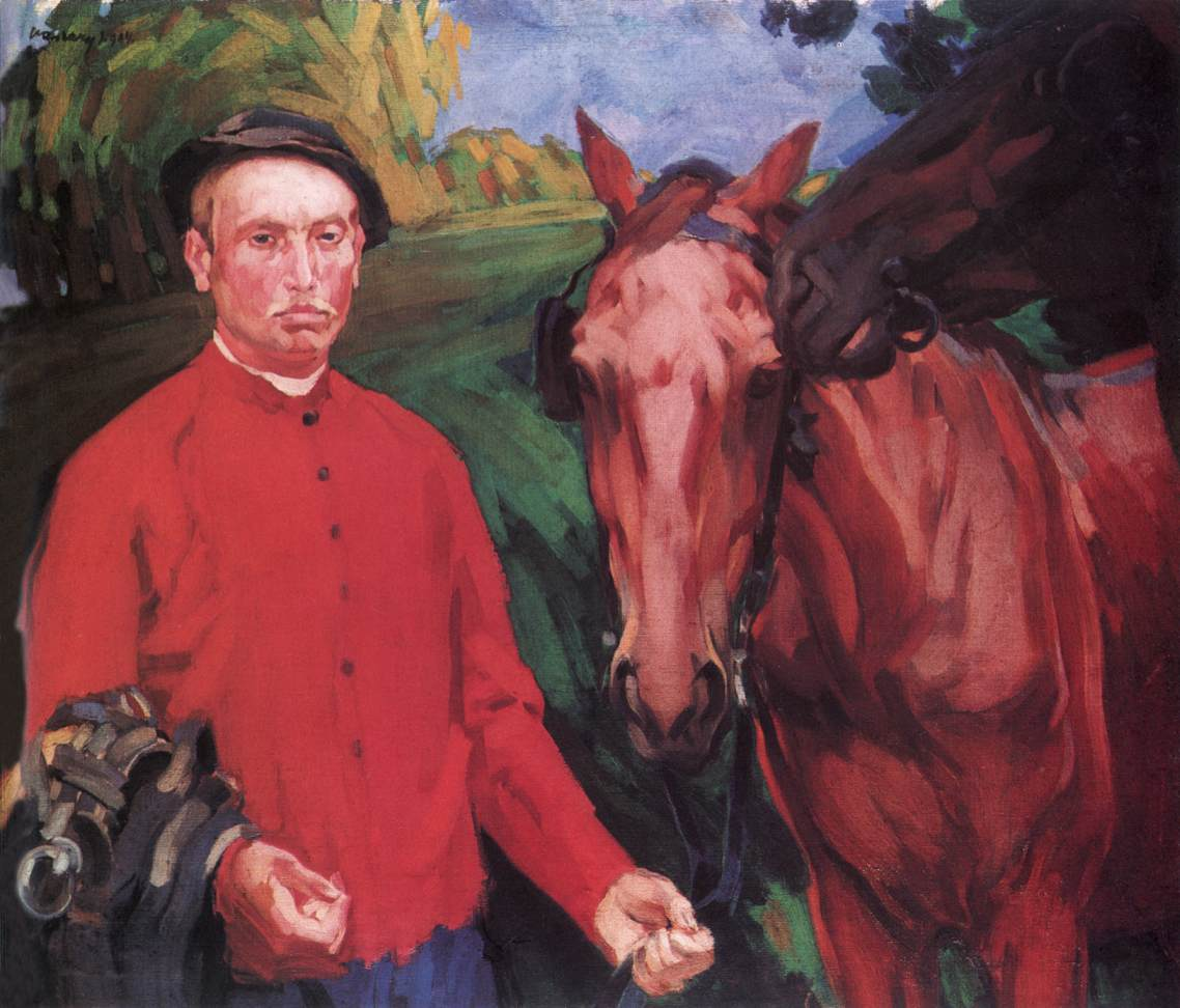 Young Man of Somogy with Horses 1904 | Janos Vaszary | Oil Painting
