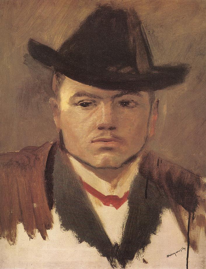 Peasant Boy with Hat (Study) | Laszio Mednyanszky | Oil Painting
