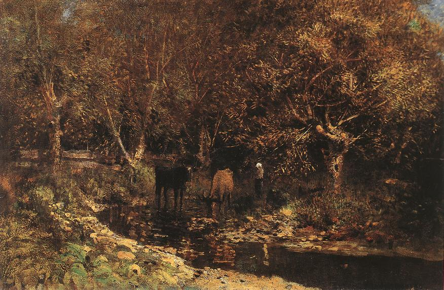 Osiery with Cows 1880 | Laszio Mednyanszky | Oil Painting