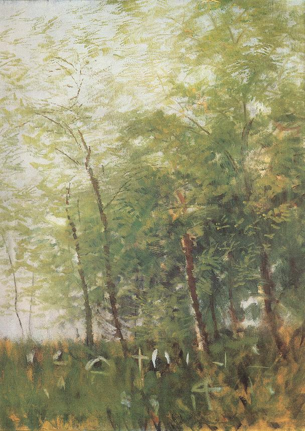 Edge of a Forest with Crosses | Laszio Mednyanszky | Oil Painting
