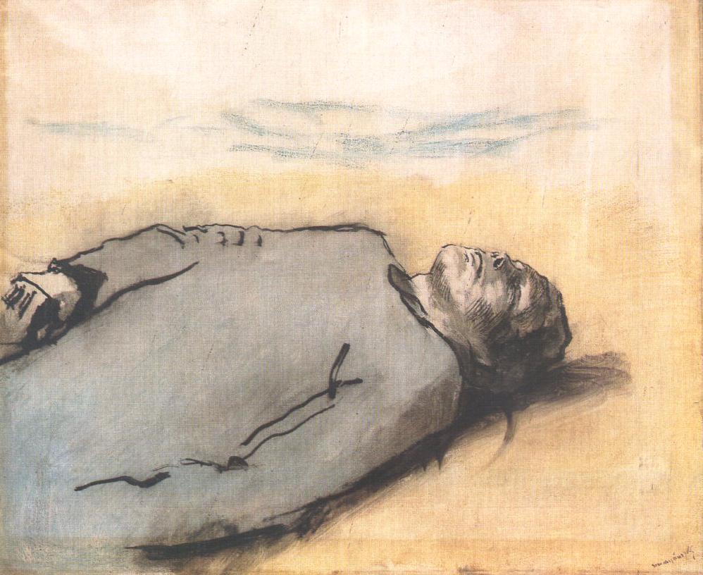 Fallen Russian Soldier 1914 17 | Laszio Mednyanszky | Oil Painting