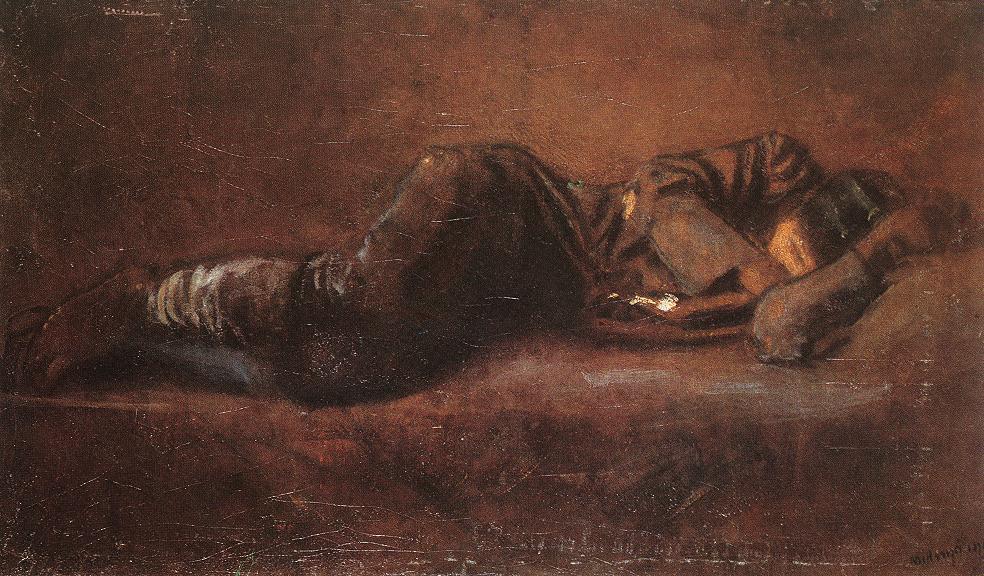 Reclining Soldier 1916 | Laszio Mednyanszky | Oil Painting