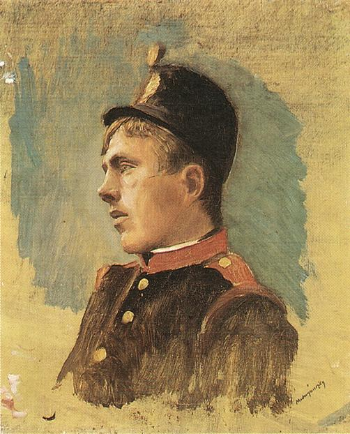 Head of a Soldier 1915 | Laszio Mednyanszky | Oil Painting