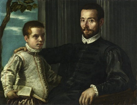 Portrait of a Nobleman with his Son | Domenico Robusti gen Tintoretto | Oil Painting