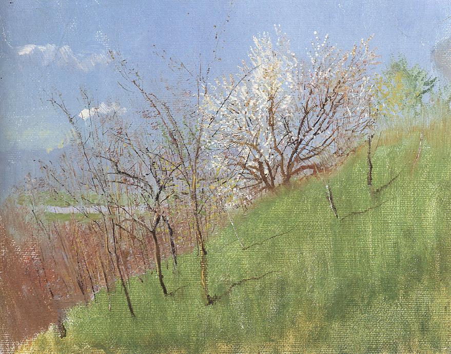 Hillside at Springtime (Little Landscape) 1903 04 | Laszio Mednyanszky | Oil Painting