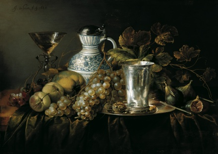 Fruit Still Life with a Silver Beaker 1648 | Jan Davidsz de Heem | Oil Painting
