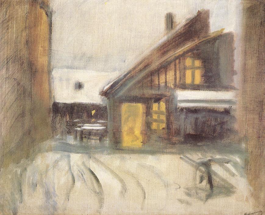 House at Dusk 1910 | Laszio Mednyanszky | Oil Painting